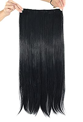 MapofBeauty Long Straight Clip in Hair Extensions Hairpieces
