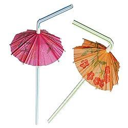 Ezee Multicolour Umbrella Straw (500 Pieces)