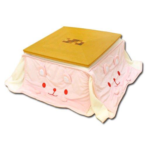 うさぎ フェイス 省スペース こたつ 掛布団 正方形 ピンク