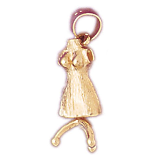 14kt Yellow Gold Dress On Hanger Pendant