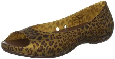 Crocs Women's Carlie Animal Wave Open-Toe Flat,Bronze/Bronze,4 M US