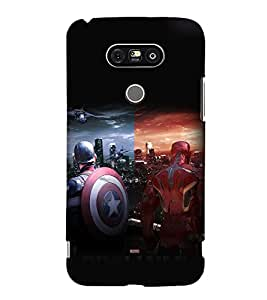 printtech Super Guys Fight For Glory Back Case Cover for G G5 Dual H860N