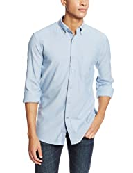 Nautica Men's Long-Sleeve Solid Oxford Shirt