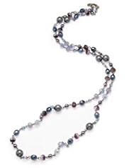 M&S Collection Assorted Bead & Pearl Effect Rope Necklace