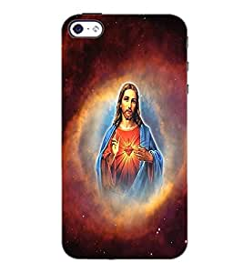 PrintDhaba Lord Jesus D-3751 Back Case Cover for APPLE IPHONE 4 (Multi-Coloured)
