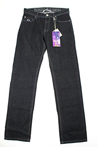 la-martina-mens-classic-straight-leg-jeans-size-33-us-regular-black-cotton