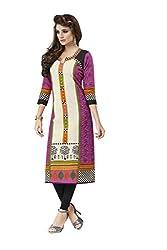 PADMiNi Ethnicwear Women's Kurti Fabric Pink Free Size