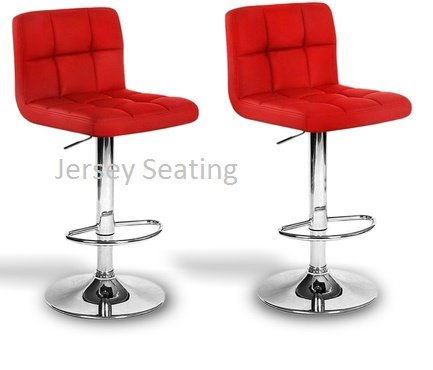 Red Leather Bar Stools for Kitchens