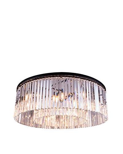 Urban Lights Sydney 10-Light Flush Mount, Mocha Brown/Royal Cut Crystal