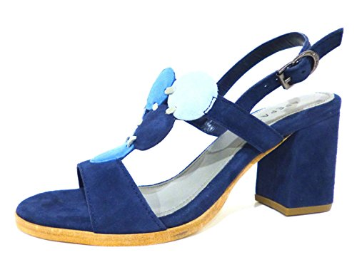 Apepazza PLW05-suede blu sandali donna in camoscio blu con tacco medio n° 38