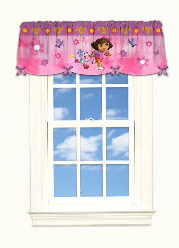 Nicklodeon Dora Day Camp Polysatin Valance - 1