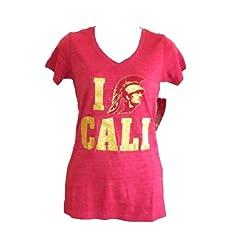 USC Trojans I Heart Cali Ladies Cardinal Shirt by University of Southern California (USC)
