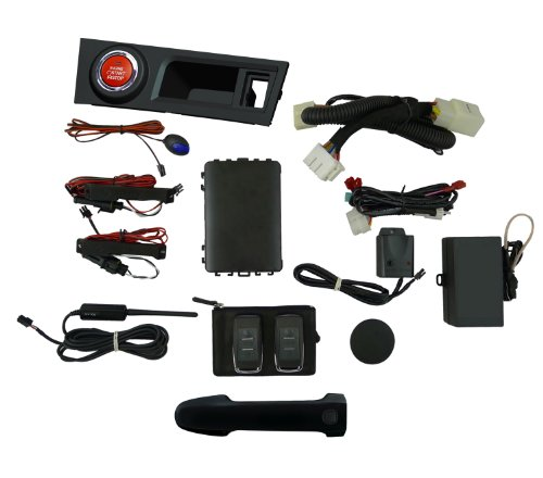EasyGO AM-FRS-D4S Smart Key Remote Start and Alarm System with Raven Driver's Door Handle for Scion FR-S