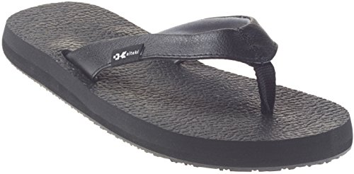Womens Black Flip Flops front-489629