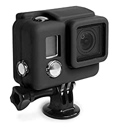 XSories Silicone GoPro Cover, Fits All GoPro HERO3+ Camera Housings, Protection And Increased Battery Life (Black)