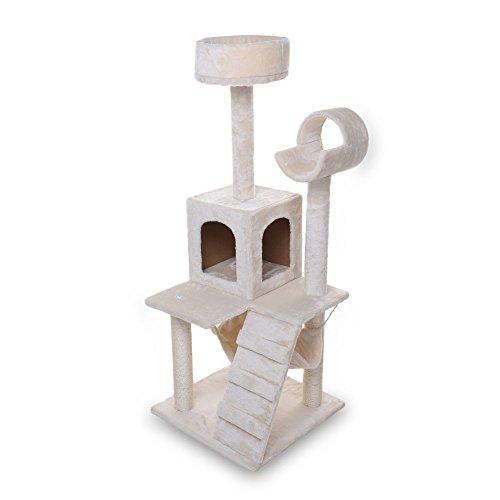 Masione Cat House Activity Tree Condo, Beige - 52 Inches