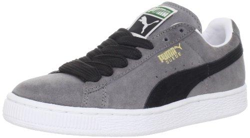 best sneakers 20ba9 c199d Puma Suede Classic Plus Sneaker,Steel Grey/Black,10 US/11.5 D US