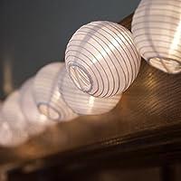 10 Piece E-joy stringlight3 Solar Lantern Globe outdoor LED String Lights