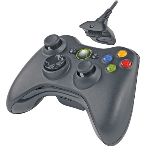 Xbox 360 Wireless Controller With Transforming D-Pad And Play/Charge Pack