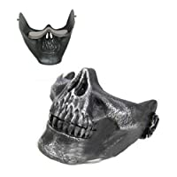TOOGOO(R) Skull Skeleton Airsoft Paintball Half Face Protect Mask For Halloween from TOOGOO(R)