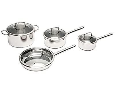 BergHOFF 2211097 8-Piece Earthchef Boreal Cookware Set, Silver