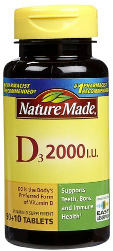 Nature Made Vitamin D 2,000 I.U., 100-Count (Pack Of 4)