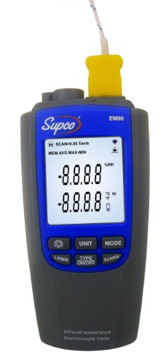 Supco EM90 Infrared as good as Thermocouple Thermometer, -328 to 2372 Degree F
