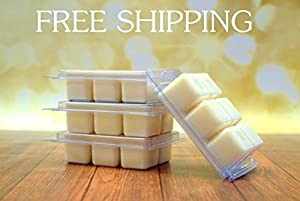 """100% All Natural Soy Wax Melt Tart - Peppermint: Irresistible aroma with mint essential oil to create a """"true to life"""" scent of this much-loved winter candy. This fragrance is infused with Cornmint Oil, Cedarwood Oil, and Citronella essential oils. - 3oz"""
