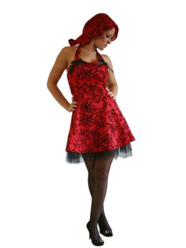 H R & London Flocking Vestito corto, colore: rosso rosso 8