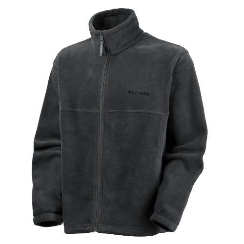 Columbia Men's Steens Mountain Full Zip Fleece Jacket, Black, LT