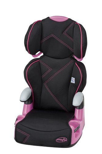 Evenflo AMP High Back Car Seat Booster, Pink