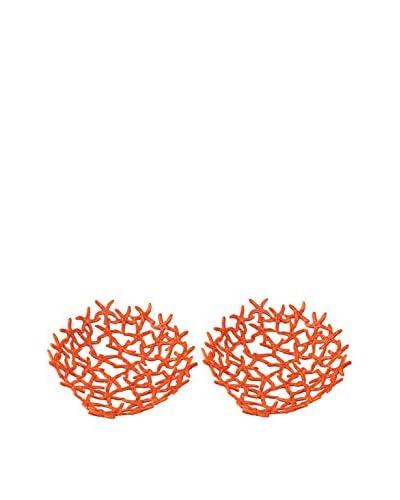 Artistic Hand Forged Starfish Bowl, Orange