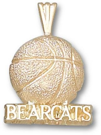Cincinnati Bearcats Bearcats Basketball Pendant - 14KT Gold Jewelry by Logo Art