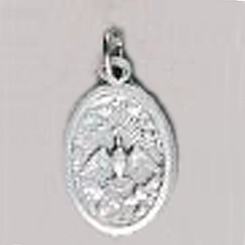 Confirmation Holy Spirit Oxidized Medal - Height: 1