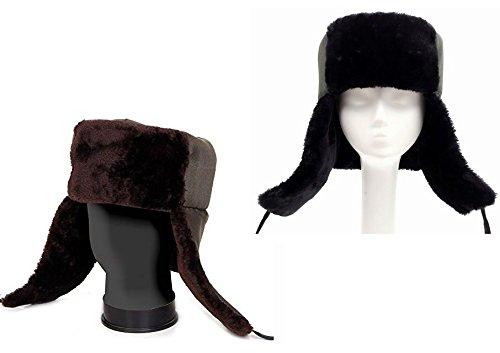 GiGant ロシア風 コサック帽子 ふかふかファー 防寒 帽子 ロシア帽 将校スタイル キャップ ハット …
