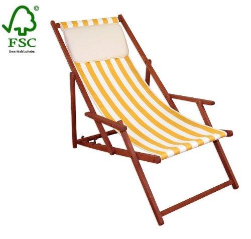 Sonnenliege Gartenliege Deckchair Saunaliege inkl. Kopfstütze günstig bestellen