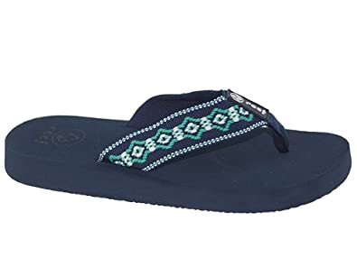 Reef Sandy Navy & Green Sandal