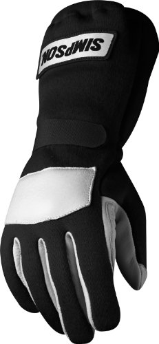 Simpson Racing 21500MK The Talon Grip Medium Black Driving Glove
