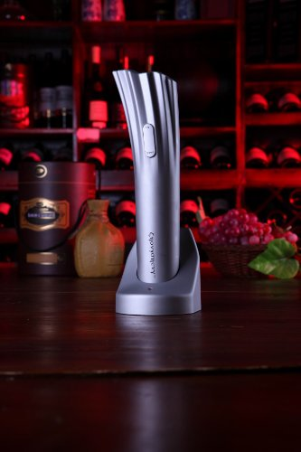 Rechargeable Electric Wine-Bottle Opener With Foil Cutter