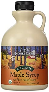 Coombs Family Farms Pure Organic Maple Syrup, Dark Amber, 32-Ounce