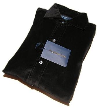 Polo Ralph Lauren Mens Estate Custom Fit Dress Shirt Black Velvet Italy Large