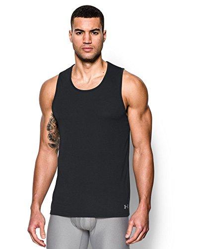 Under Armour Men's Core Tank Undershirt - 2-Pack, Black (001), X-Large