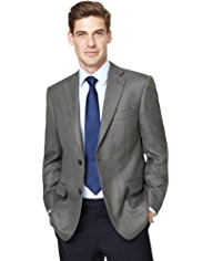 Soft Touch Textured Tailored Fit Jacket