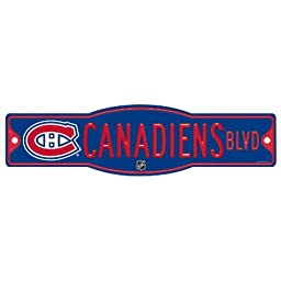 NHL Montreal Canadiens Sign, 4.5 x 17-Inch