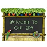 """""""Welcome To Our Spa"""" Tiki Bar Sign"""