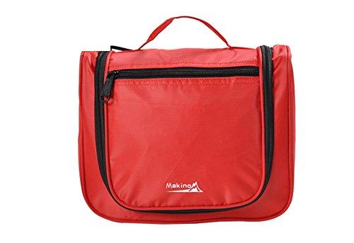 Couple Voyage / Cosmetic Portable / sac de lavage imperméable à l'eau-rouge