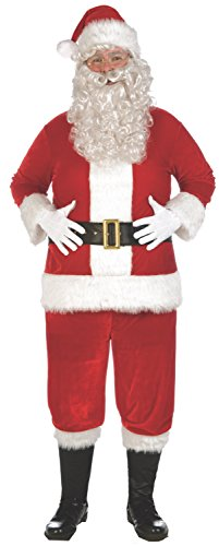 Forum Novelties Men's Deluxe Plus Size Plush Santa Suit Costume