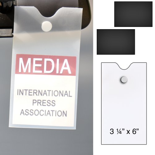 StoreSMART® Magnetic Holders for Press Passes - Easy On and Easy Off - MMP3X6 (Parking Pass Mount compare prices)