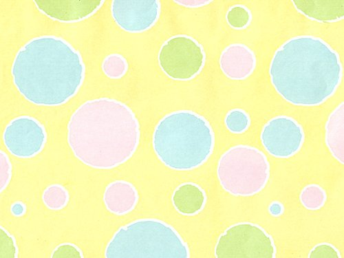 Baby Bubbles Polka Dot Baby Girl Or Boy Gift Wrap Wrapping Paper 16 Foot Roll
