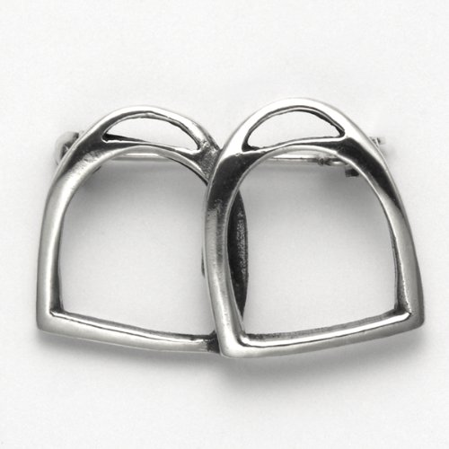 Sterling Silver Double Stirrups Pin